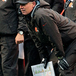 Cleveland Browns head coach Pat Shurmur watches from the sidelines in the fourth quarter of an NFL football game against the San Diego Chargers, Sunday, Oct. 28, 2012, in Cleveland. The Brow &#8230;