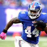 New York Giants running back Ahmad Bradshaw runs with the ball against the Cleveland Browns during the second half of an NFL football game Sunday, Oct. 7, 2012, in East Rutherford, N.J. The  …