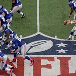 New York Giants quarterback Eli Manning (10) takes the snap during the first half of an NFL football game Sunday, Oct. 7, 2012, in East Rutherford, N.J. (AP Photo/Peter Morgan)