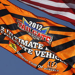 Cincinnati Bengals fans fly flags outside Paul  Brown Stadium prior to an NFL football game between the Bengals and the Cleveland Browns, Sunday, Sept. 16, 2012, in Cincinnati. (AP Photo/Tom …