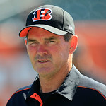 Cincinnati Bengals defensive coordinator Mike Zimmer walks onto the field prior to an NFL football game against the Cleveland Browns, Sunday, Sept. 16, 2012, in Cincinnati. (AP Photo/Al Behr …