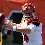 Cincinnati Bengals quarterback Andy Dalton passes against the Cleveland Browns in an NFL football, Sunday, Sept. 16, 2012, in Cincinnati. (AP Photo/Al Behrman)