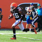 Cleveland Browns wide receiver Josh Cribbs returns a kick during an NFL football game against the Cincinnati Bengals, Sunday, Sept. 16, 2012, in Cincinnati. (AP Photo/Al Behrman)