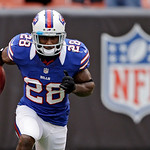 Buffalo Bills running back C.J. Spiller warms up before an NFL football game against the Cleveland Browns Sunday, Sept. 23, 2012, in Cleveland. (AP Photo/Mark Duncan)
