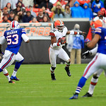 Cleveland Browns wide receiver Josh Cribbs (16) runs the ball in an NFL football game against the Buffalo Bills Sunday, Sept. 23, 2012, in Cleveland. (AP Photo/Tony Dejak)