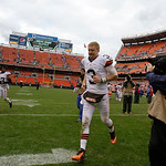 Cleveland Browns quarterback Brandon Weeden runs off the field after the Browns lost to the Buffalo Bills 24-14 in an NFL football game Sunday, Sept. 23, 2012, in Cleveland. (AP Photo/Tony D &#8230;