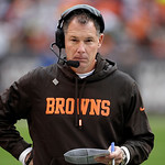 Cleveland Browns head coach Pat Shurmur stalks the sidelines before the opening kickoff of an NFL football game against the Buffalo Bills Sunday, Sept. 23, 2012, in Cleveland. (AP Photo/Mark &#8230;