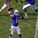 Buffalo Bills quarterback Ryan Fitzpatrick (14) fires a pass in the third quarter of an NFL football game against the Cleveland Browns Sunday, Sept. 23, 2012, in Cleveland. Fitzpatrick threw &#8230;