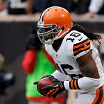 Cleveland Browns&#039; Josh Cribbs brings the opening kickoff out of the end zone in the first quarter of an NFL football game against the Buffalo Bills Sunday, Sept. 23, 2012, in Cleveland. (AP  &#8230;