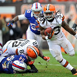 Cleveland Browns running back Trent Richardson runs for a 6-yard touchdown in the second quarter of an NFL football game against the Buffalo Bills, Sunday, Sept. 23, 2012, in Cleveland. (AP  &#8230;