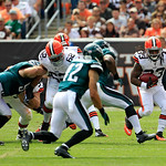 Cleveland Browns running back Trent Richardson (33) runs the ball during an NFL football game against the Philadelphia Eagles Sunday, Sept. 9, 2012, in Cleveland. (AP Photo/Tony Dejak)
