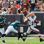 Cleveland Browns wide receiver Josh Cribbs (16) runs the ball against the Philadelphia Eagles during an NFL football game Sunday, Sept. 9, 2012, in Cleveland. (AP Photo/Tony Dejak)