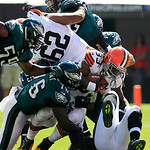 Cleveland Browns running back Trent Richardson (33) runs the ball against the Philadelphia Eagles during an NFL football game Sunday, Sept. 9, 2012, in Cleveland. (AP Photo/Tony Dejak)