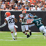 Cleveland Browns wide receiver Josh Cribbs (16) returns the ball during an NFL football game against the Philadelphia Eagles Sunday, Sept. 9, 2012, in Cleveland. (AP Photo/Tony Dejak)
