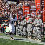 Cleveland Browns running back Trent Richardson (33) runs onto the field before an NFL football game against the Philadelphia Eagles Sunday, Sept. 9, 2012, in Cleveland. (AP Photo/Mark Duncan …