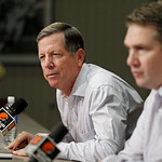 New Cleveland Browns offensive coordinator Norv Turner at the NFL football team&#039;s practice facility in Berea, Ohio Wednesday, Jan. 23, 2013. (AP Photo/Mark Duncan)