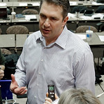 Cleveland Browns head coach Rob Chudzkinski talks with reporters after introducing new offensive coordinator Norv Turner at the NFL football team&#039;s practice facility in Berea, Ohio Wednesday &#8230;