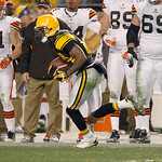 Pittsburgh Steelers wide receiver Antonio Brown (84) runs for a touchdown after making a catch in the fourth quarter against the Cleveland Browns of the NFL football game on Friday, Dec. 9,  …