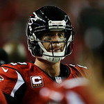 Atlanta Falcons' Matt Ryan walks off the field after  the NFL football NFC Championship game against the San Francisco 49ers Sunday, Jan. 20, 2013, in Atlanta. The 49ers won 28-24 to advance …