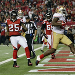 San Francisco 49ers' Frank Gore rushes for a five-yard touchdown during the second half of the NFL football NFC Championship game against the Atlanta Falcons Sunday, Jan. 20, 2013, in Atlant …