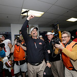 San Francisco 49ers head coach Jim Harbaugh reacts after the NFL football NFC Championship game against the Atlanta Falcons Sunday, Jan. 20, 2013, in Atlanta. The 49ers won 28-24 to advance  …