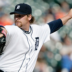 Detroit Tigers pitcher Phil Coke delivers against the Cleveland Indians in the ninth inning of a baseball game Sunday, April 11, 2010, in Detroit. Coke recorded his first win of the season w …