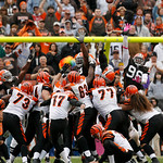 Cincinnati Bengals  kicker Shayne Graham kicks a 31-yard field goal with four seconds remaining in overtime to  defeat the Cleveland Browns 23-20 Sunday, Oct. 4, 2009 in Cleveland, Ohio. (AP …