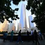 Friends and family members gather at the 9/11 Memorial during ceremonies marking the 12th anniversary of the 9/11 attacks on the World Trade Center in New York. (AP Photo/Alejandra Villa, Po …
