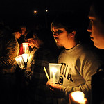 A candlelight vigil for A.J. Vincent at Elyria Catholic High School Nov. 27.   Steve Manheim
