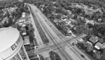 water tower roadway Drone