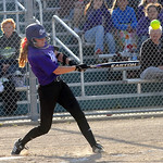 Bri Buckley of Keystone hits an RBI single in third inning of Lorain County All Star softball on June 5.  Steve Manheim