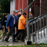 Cleveland police, fire and Cuyahoga County coroner's investigators prepare to enter the home of Anthony Sowell in Cleveland Thursday, Nov. 5, 2009. Police began a further search of the house …