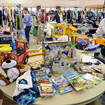 Items for sale at the Avon Early Childhood PTA fundraiser, Kid's Kloset Sale, at Avon High Sep. 25.  Steve Manheim