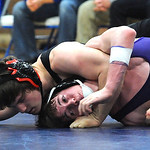 Midview Kolby Hirschfelder, top, defeats Avon Travis Leopold in 160 wt. class at Midview dual Jan. 31.  Steve Manheim