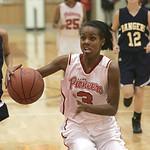 18JAN12  N. Ridgeville girls travel to Elyria High School.   Lady Pioneer #3 is Simone Christian.    photo by Chuck Humel