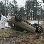 8MAR12  MVA on SR 58 near Butternut Ridge; two cars involved; one crashed just north of the Drug Mart and the other flipped over and crashed into the ditch about 400-600 feet further north.  …