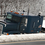 A truck cab off Rt. 90 east near Rt. 57 exit on Mar. 11.   Steve Manheim