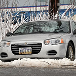 This car went off Liberty Ave. in Vermilion on Mar. 11.   Steve Manheim