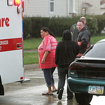 A child was hit by a car on Charleston Ave. in Lorain.  photo by Chuck Humel