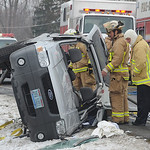 Oberlin firefighters at MVA on Oberlin Rd Feb. 14.  Steve Manheim