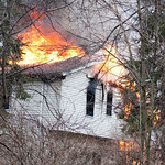 A man suffered minor injuries and a dog died in a fire Saturday morning at 372 Craggy Creek Drive in Chippewa Lake. (Photo courtesy Matthew Platz)