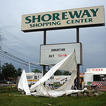 A storm tore through Sheffield Lake Wednesday afternoon, July 10 taking down many tents and booths set up for Sheffield Lake's Community Days festival at Shoreway Shopping Center on Lake Roa …