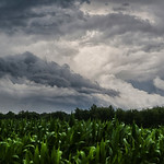 Chaotic skies near Amherst as a storm clears out and another one moves in.