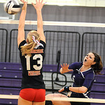 Keystone Nikki Tuttle hits past Brookside Kady Whitsel Oct. 4.  Steve Manheim