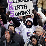 A Baltimore Ravens fan holds up a sign while the team faces the Cleveland Browns in the first half of their NFL football game on Sunday, Dec. 26, 2010, in Cleveland. The Ravens won the game  …