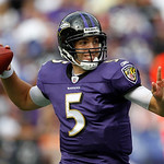 Baltimore Ravens quarterback Joe Flacco throws during the second half of an NFL football game against the Cleveland Browns in Baltimore on Sunday, Sept. 26, 2010. The Ravens won 24-17. (AP P …