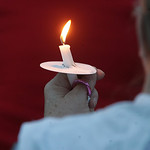 "A candlelight vigil was held to remember Catherine ""Kat' Hoholski at Veterans Park in Lorain.        photo by Chuck Humel"