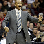 Cleveland Cavaliers coach Byron Scott reacts during the first quarter in an NBA basketball game against the Toronto Raptors on Wednesday, Jan. 5, 2011, in Cleveland. The Raptors won 120-105. …