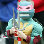 A youngster dressed as Raphael from the Teenage Mutant Ninja Turtles during the parade. ANNA NORRIS/CHRONICLE