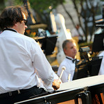 "ANNA NORRIS/CHRONICLE Andrew Pongracz plays the timpani during The Cleveland Pops Orchestra ""Summon the Superheroes: Classical Music to the Rescue–with a Bang!"" concert Saturday evening in  …"